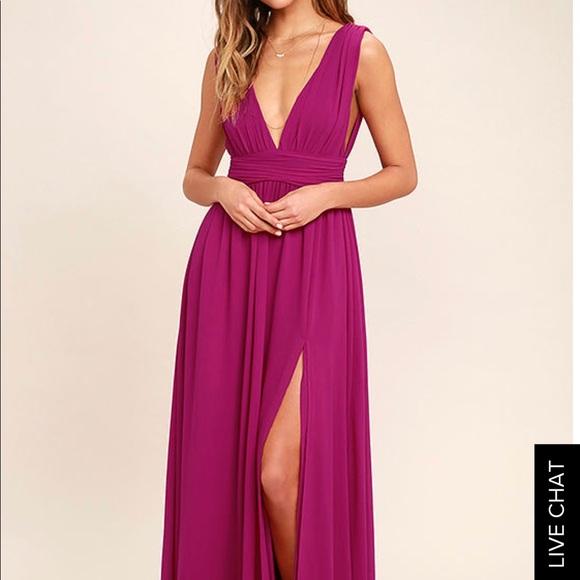 Lulu\'s Dresses | Lulus Prom Dress In Magenta | Poshmark